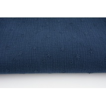 100% cotton, double gauze embroidered A, navy