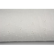 100% cotton, double gauze embroidered B, ecru
