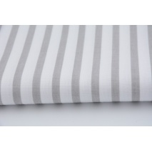 Cotton 100% light gray stripes 5mm/10mm