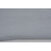 100% cotton, double gauze embroidered C, light gray