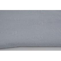 Muślin bawełniany haftowany C, jasnoszary