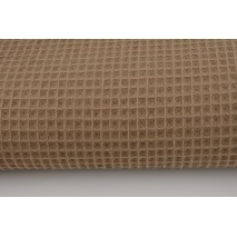 Cotton 100%, waffle fabric, plain dark beige