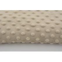Dimple dot fleece minky light beige color