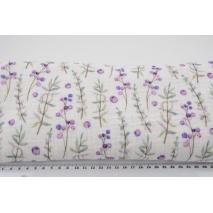 Double gauze 100% cotton, blueberries, digital print