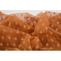 Soft tulle with dots, copper