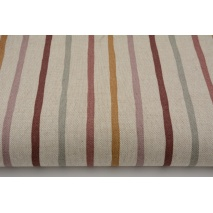 Decorative fabric, stripes on a linen background 200g/m2