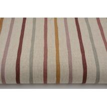 Tkanina dekoracyjna, paski na lnianym tle 200g/m2