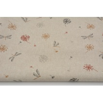 Decorative fabric in a pattern of weighty on a linen background 200g/m2