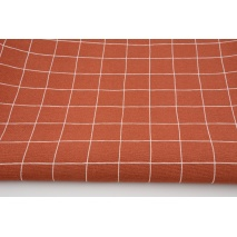Decorative fabric, squares on a brick background 170g/m2