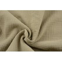 Double gauze 100% cotton plain medium beige