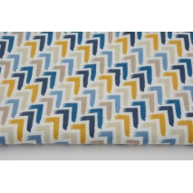 Double gauze 100% cotton mustard, blue corners