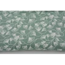 Double gauze 100% cotton maidenhair tree, ginkgo, green
