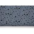 Double gauze 100% cotton black spots on a graphite background