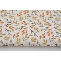 Double gauze 100% cotton, autumn leaves, digital print