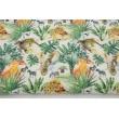 Double gauze 100% cotton, jungle pattern, digital print