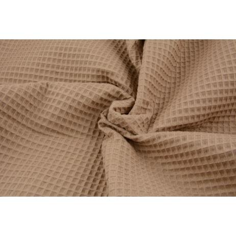 Cotton 100% waffle, caramel CZ 160 cm