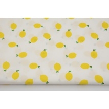 Cotton 100%, lemons on white, poplin