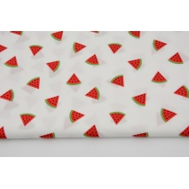 Cotton 100%, watermelons on white, poplin