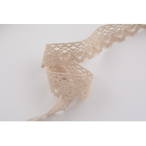 Lace 28mm in beige color