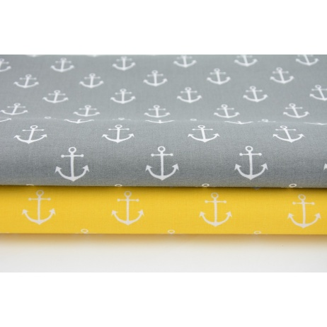Cotton 100% anchors on gray background