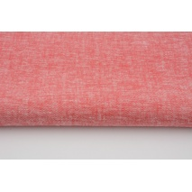 Viscose with linen, red melange