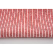 Viscose with linen, stripes, red melange