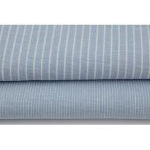 Viscose with linen, stripes, blue melange