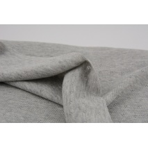 Cotton Ajour, pointelle, gray melange