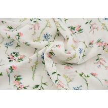 Viscose 100%, delicate flowers on a creamy background