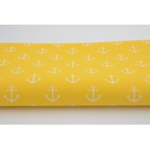 Cotton 100% anchors on a yellow background