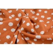 Viscose 100% spots, polka dots on a ginger background