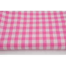 Cotton 100% double-sided vichy check 1cm, beautiful pink colour