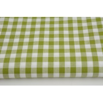 Cotton 100% double-sided vichy check 1cm, olive colour