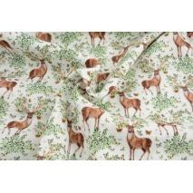 Double gauze 100% cotton deer, leaves, butterflies DP
