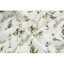 Premium 100% cotton green twigs, eucalyptus DP