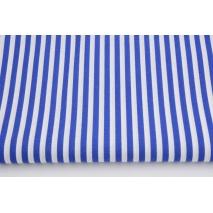 Cotton 100% royal blue stripes 5mm