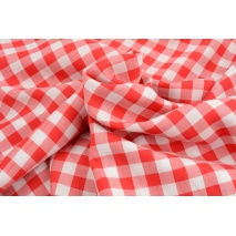 Viscose 100% vichy check 1cm, red