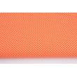 Cotton 100% white polka dots 2mm on an orange background
