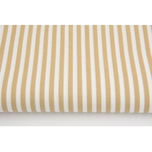 Cotton 100% beige 5mm stripes