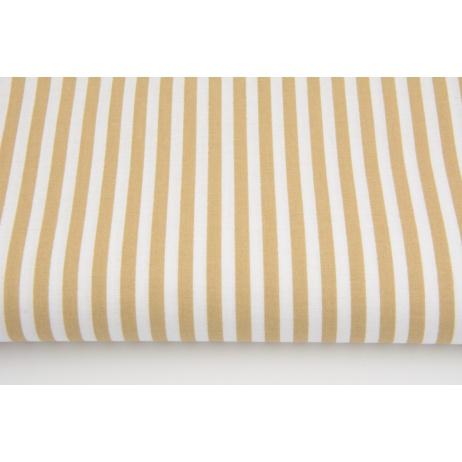 Cotton 100% beige 5mm stripes