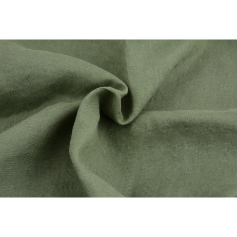 100% linen khaki, softened 155g/m2