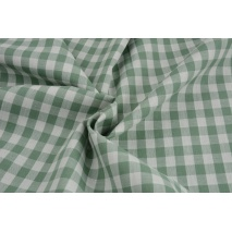 Cotton 100% double-sided, vichy check, eucalyptus, 1cm