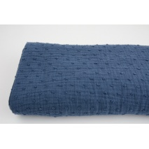 Plumetis cotton gauze, navy