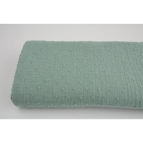 Plumetis cotton gauze, navy
