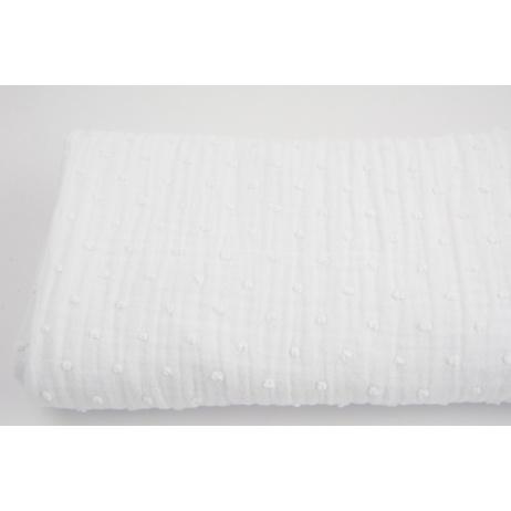 Plumetis cotton gauze, white