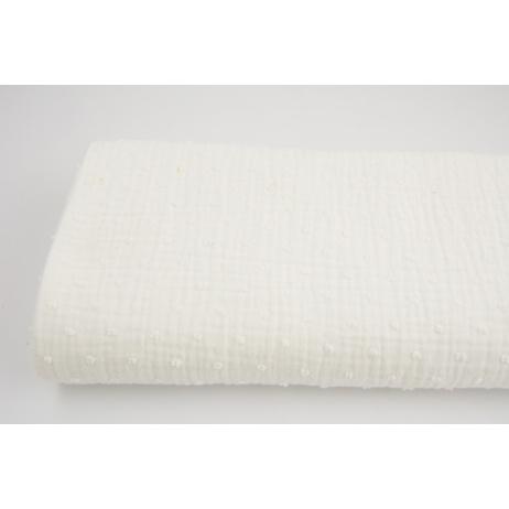 Plumetis cotton gauze, ecru