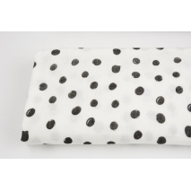 Double gauze 100% cotton draw dots on a white background