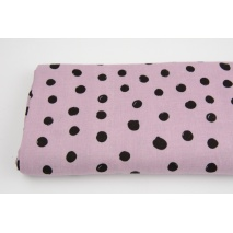 Double gauze 100% cotton draw dots on a heather background