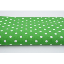 Cotton 100% polka dots 7mm on a dark green background