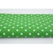 Bawełna kropki 7mm na ciemno zielonm tle